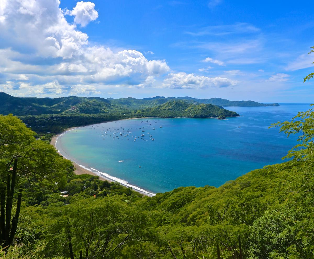 View of Playas del Coco Costa Rica