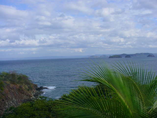 View of the Pacific shoreline in northern Guanacaste