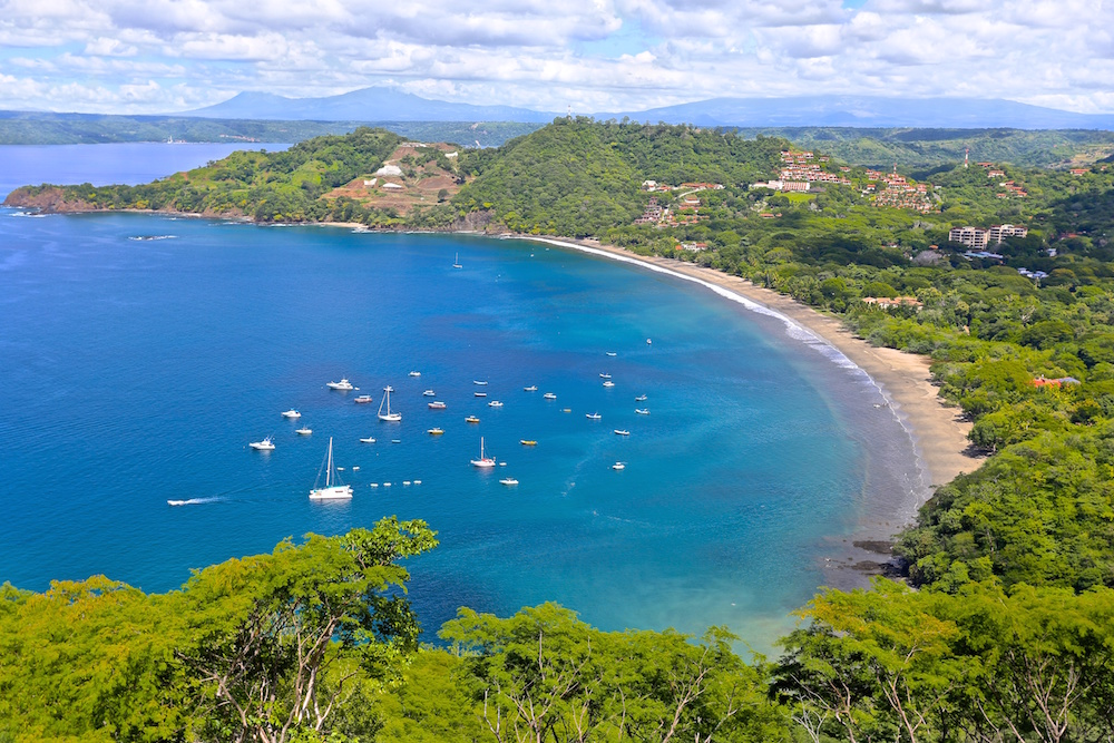 Aerial view Playa Hermosa Costa Rica