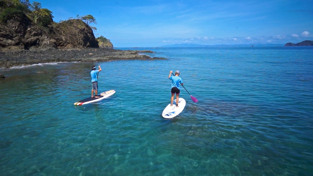 Stand up paddling in Costa Rica